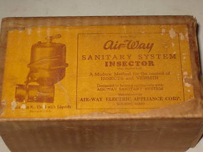 Vintage Air-Way Sanitary System Insector / Original Box / VERY NICE 2