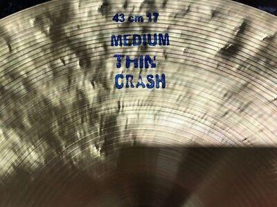 """Bosphorus Traditonal 17"""" Medium Thin Crash -  1110gr -  NEU !!"""