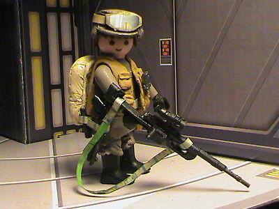 REF-0050 BIS PLAYMOBIL CUSTOM STAR WARS SOLDAT REBELDE 01 ROGUE ONE