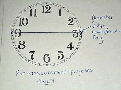 "Large Ansonia Paper (Card) Clock Dial - 11""  M/T - Roman - MATT - Parts/Spares 6"