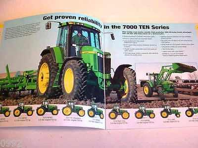 ORIGINAL 2001 JOHN DEERE 7000 TEN  SERIES TRACTOR BROCHURE~ 95-150 HP ~32 PAGES