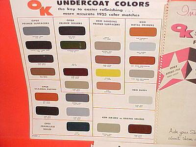 1955 Sherwin Williams Auto Body Undercoat Paint Chips Sw