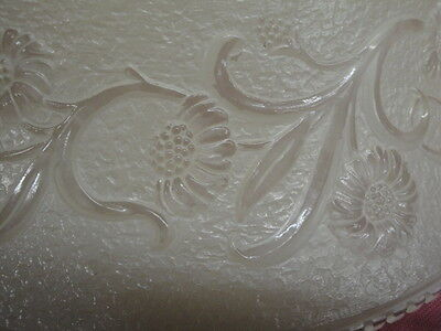 "Antique Embossed Art Glass Shade 16 1/4"" Across 4"