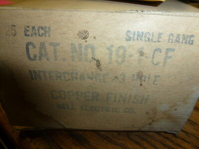 Nos! (2) Bell Interchange Single Gang Copper Finish Wall Plate, 19-1-Cf