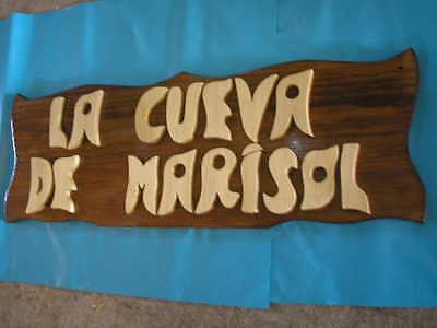 LETRERO de madera personalizado, ROTULACIÓN artesanal 9
