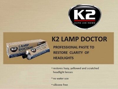 K2 Pro LAMP DOCTOR CLEANER RESTORES & POLISH YELLOWED SCRATCHED HEADLIGHT LENSES 3
