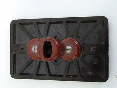 Bakelite Outlet Cover One Piece Unit Brown 3