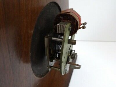Vintage Smiths Sectric Art Deco Bakelite wood mantel clock (spares and repairs) 10