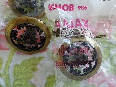 Lot of Vintage Ajax Drawer Knob Pull Cabinet Hinges Filigree New NOS 3