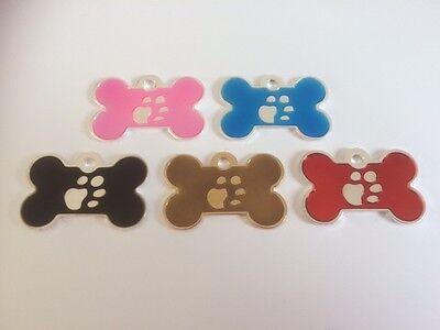 Elegance Paw Print Engraved Cat/Dog/Pet ID NAME tags BONE/DISC Variations.... 2