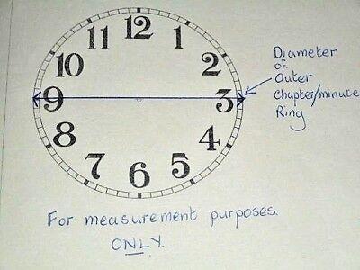 Round 'Big Ben' Paper Clock Dial-103mm M/T-Roman- Cream- Face/Clock Parts/Spares