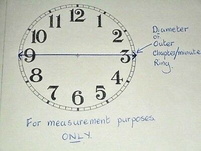 "Round Seikosha Paper Clock Dial -  5"" M/T - Arabic - White - Face / Clock Parts"
