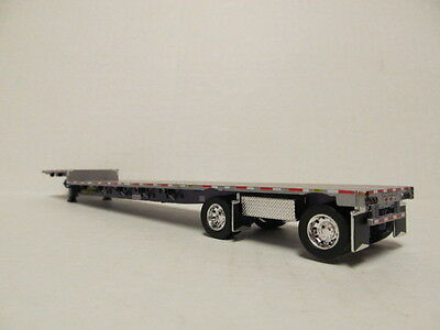 Step Deck Trailer >> Dcp 1 64 Scale Transcraft Step Deck Trailer Silver Deck With Purple