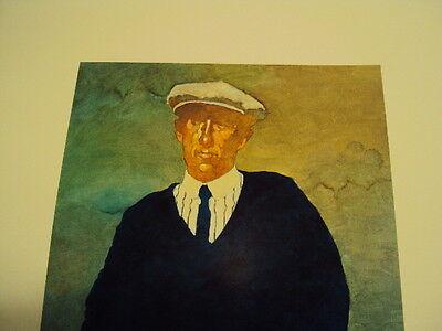 "Bart Forbes golf art print  "" The Golfer "" Vintage Male   SMALLER SIZE PRINT 3"