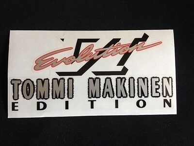 Mitsubishi Evo Tommi Makinen and Evo VI rear boot decal five options! 2
