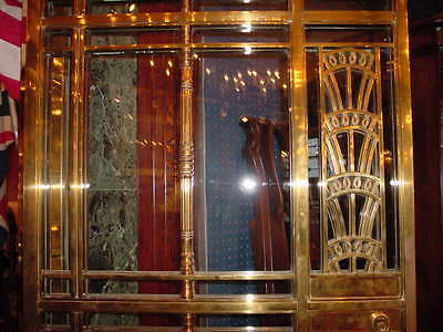 1928 Art Deco American Brass Co. Doors Monumental Architectural Masterpiece 5