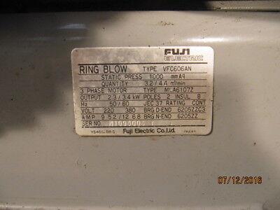 Fuji, Seitenkanalverdichter, Vakuumpumpe  2,3 / 3,4 kW, Absaugung Zahnarzt