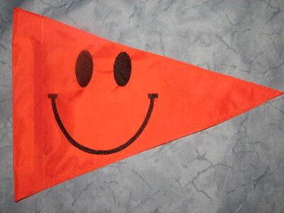 Custom NIRVANA SMILEY FACE  Triangle Safety Flag 4 ATV JEEP TRIKE BIKE WHIP POLE