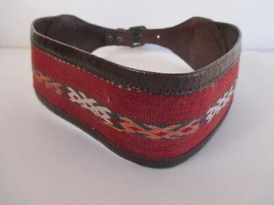 DANNIJO  Red Crochet Brown leather Morocco Waist Belt Sz 32.5 Long 3