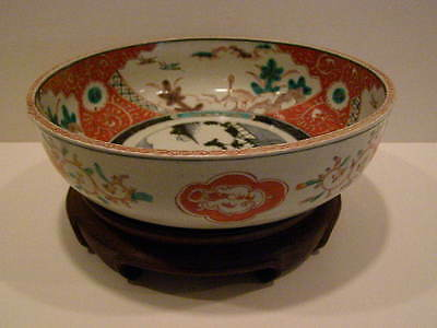 Antique 1850 A.d. Japanese Imari Bowl With Stand 5