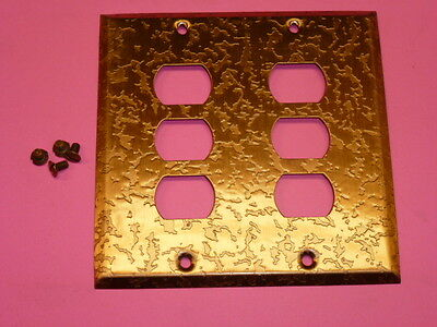 Nos! Bell Interchange 2-Gang Antique Copper Finish Wall Plate, 6-Hole, 19-2-Acox 2