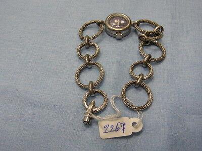 800er Silberarmband mit Handaufzug Damenuhr alt La 18 Ziffer durchmesser 1,5 cm