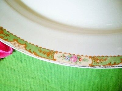 Vintage Platter Green Floral Edge Jg Meakin 40.5Cm Meat Turkey Platter Xmas 2