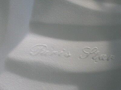 antique (PARIS STAR) ART DECO chandelier Ceiling Light Fixture FROSTED Glass 2