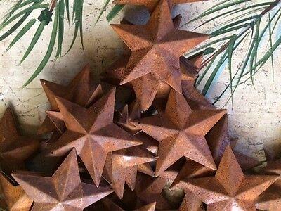 "50 Dimensional Rusty Barn Stars 2.25 in 2 1/4"" Primitive Metal Rust 57mm Craft * 3"