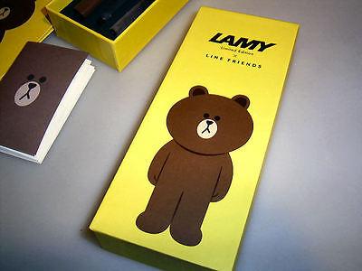 LAMY Safari Füllhalter für Südkorea: Line Friends: BRAUN! Geschenketui 11