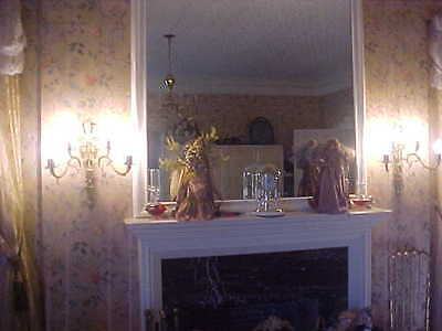 """Wall Sconces Antique 4 Light Brass Rewired 19"""" High 19"""" Wide (Lot Of 2) 4"""