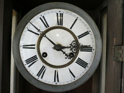 Antique German Striking Regulator Wall Clock For Restoration 6