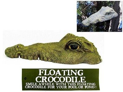 35cm Floating Crocodile Garden Ornament - Perfect for your pond, pool or dam