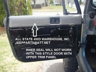 JEEP CJ CJ7 CJ8 WRANGLER YJ 82-95 4 PC DOOR GLASS BELT WIPE SEAL KIT MOVEABLE