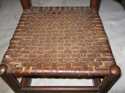 Antique Child Wood Primitive Country Farm Rocking Chair Toy Doll Splint Folk Art 5