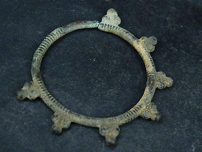 Ancient Bronze earing Islamic 1300 AD NO RESERVE    #BR1427 5