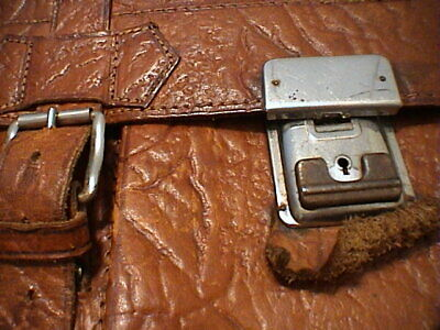 1717/  Leder Aktentasche Tasche Antik Vintage Accessoires 3