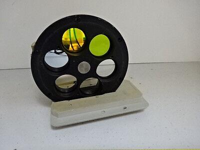 Microscope Pièce Reichert Polyvaer Leica Filtre Roue Optiques Tel Quel #V3-C-05 9