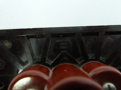 Bakelite Outlet Cover One Piece Unit Brown 5