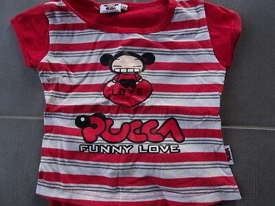 fd509718b9647 ... Pyjama 2 pièces t-shirt rouge rayé imprimé PUCCA + short rouge uni  Taille 3