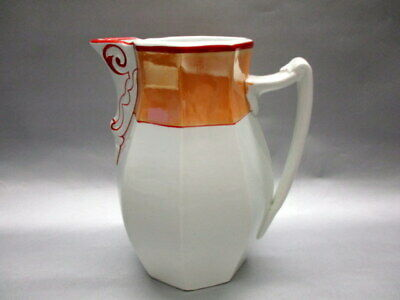 AMBERG Keramik Fayence Biedermeier Kaffee Schokoladen Milch Kakao Kännchen Kanne 3