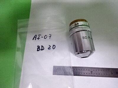 Microscope Pièce Nikon Japon Bf Df Objective Bd 20X Optiques Tel Quel B #AI-07 4