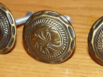 3 Nice Vintage Metal Drawer Knobs 3