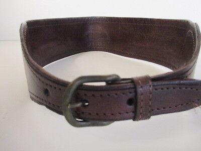 DANNIJO  Red Crochet Brown leather Morocco Waist Belt Sz 32.5 Long 6