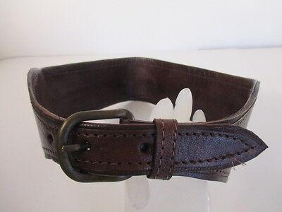 DANNIJO  Red Crochet Brown leather Morocco Waist Belt Sz 32.5 Long 7
