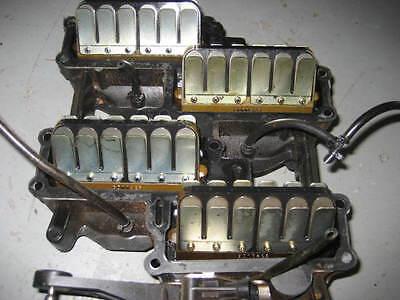 JOHNSON EVINRUDE FICHT 200 225 hp Reed Valve Set 5000323 and intake manifold