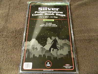 100 New BCW Silver Age Resealable Comic Book Bags And Boards - Acid Free - Archi 3