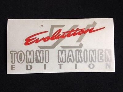 Mitsubishi Evo Tommi Makinen and Evo VI rear boot decal five options! 4