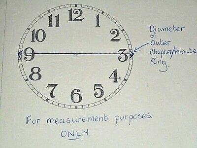 """Round Paper Clock Dial-3 1/2"""" M/T-Roman-High Gloss White-Face/Clock Parts/Spares"""