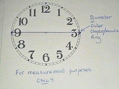 """Square Paper (Card) Clock Dial - 3 1/2"""" M/T- Roman - MATT CREAM - Parts/Spares 4"""